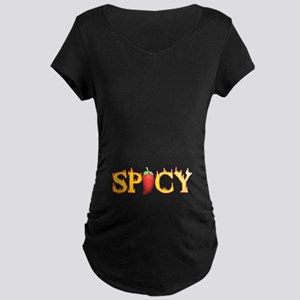 Spicy Hot Maternity Dark T-Shirt