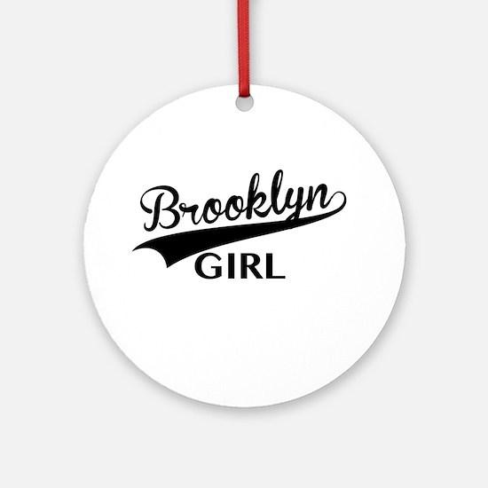 Funny Brooklyn bridge Round Ornament