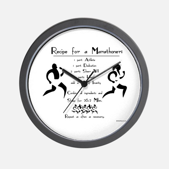 Recipe for a Marathoner Wall Clock