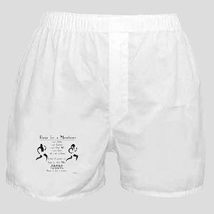 Recipe for a Marathoner Boxer Shorts