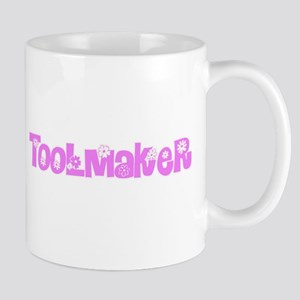 Toolmaker Pink Flower Design Mugs