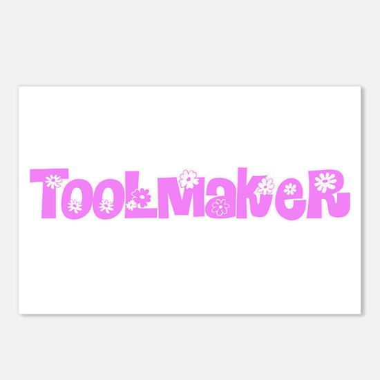 Toolmaker Pink Flower Des Postcards (Package of 8)