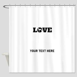 Rhodesian Ridgeback Love (Custom) Shower Curtain