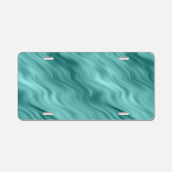 Blue Waves Aluminum License Plate