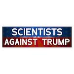 Scientists Against Donald Trump Bumper Sticker