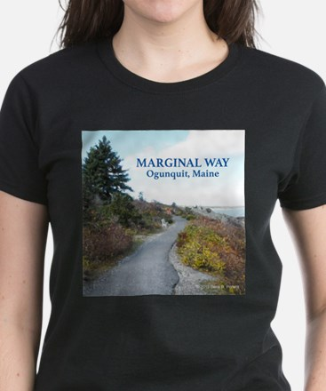 Ogunquit Marginal Way Women's Dark T-Shirt