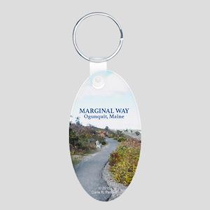 Ogunquit Marginal Way Aluminum Oval Keychain