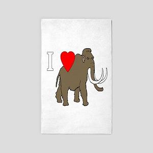 I hart mammoths Area Rug