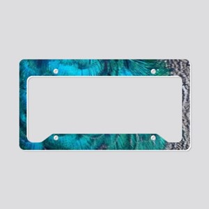 wildlife exotic Blue peacock feathers License Plat