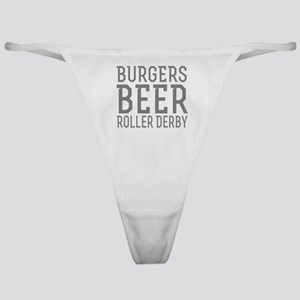 Burgers Beer Roller Derby Classic Thong
