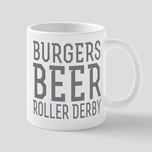 Burgers Beer Roller Derby Mugs