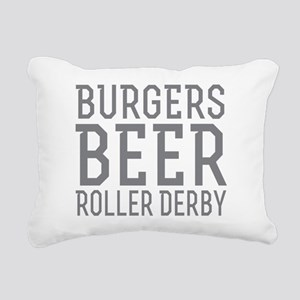 Burgers Beer Roller Derb Rectangular Canvas Pillow