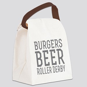 Burgers Beer Roller Derby Canvas Lunch Bag