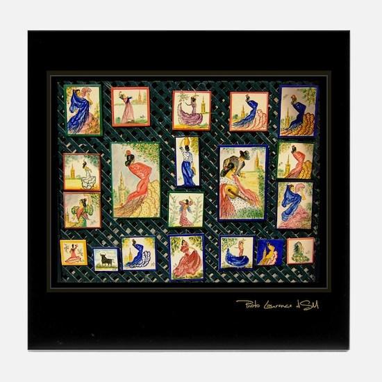 """Flamenco-2-"" Tile Coaster"