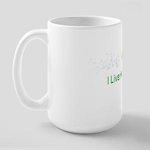 I live here now  Large Mug