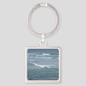 Marginal Way Ocean Waves Square Keychain