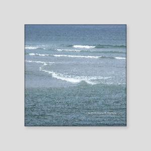 "Marginal Way Ocean Waves Square Sticker 3"" x 3"""