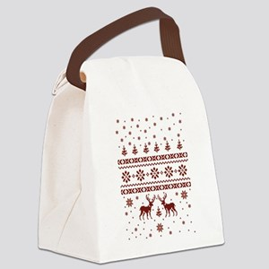 merry christmas Canvas Lunch Bag