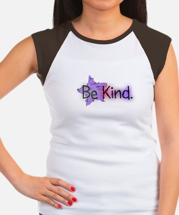 Be Kind with Colorful Text and Purple Star T-Shirt