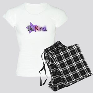 Be Kind with Colorful Text and Purple Star Pajamas