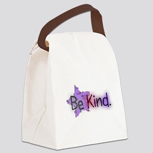 Be Kind with Colorful Text and Purple Star Canvas