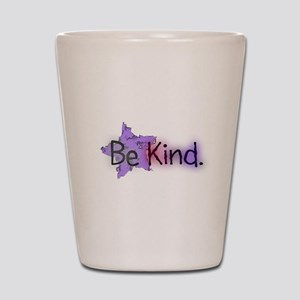 Be Kind with Colorful Text and Purple Star Shot Gl