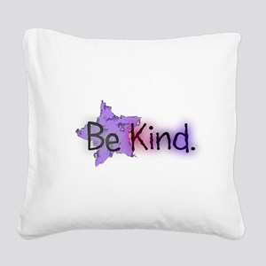 Be Kind with Colorful Text and Purple Star Square