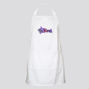 Be Kind with Colorful Text and Purple Star Apron