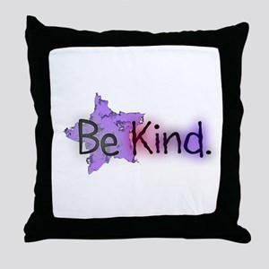 Be Kind with Colorful Text and Purple Star Throw P