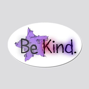 Be Kind with Colorful Text and Purple Star Wall De