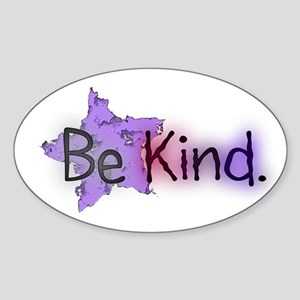 Be Kind with Colorful Text and Purple Star Sticker