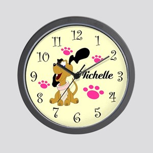 Cute Puppy With Paws Wall Clock