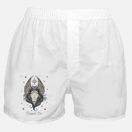 Moon Goddess Blessed Be Boxer Shorts
