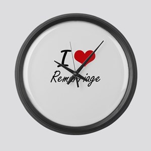 I Love Remarriage Large Wall Clock