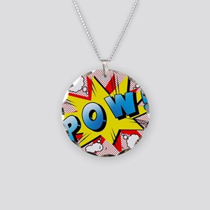 pow Necklace Circle Charm