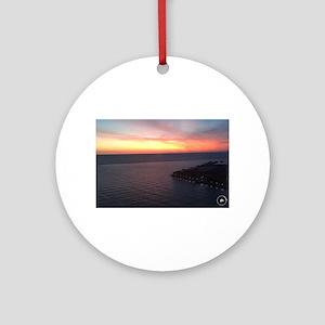International Sunset Round Ornament
