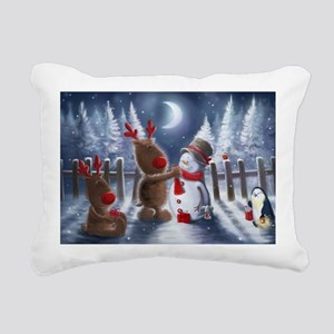 Christmas reindeer Rectangular Canvas Pillow