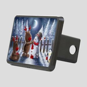 Christmas reindeer Rectangular Hitch Cover