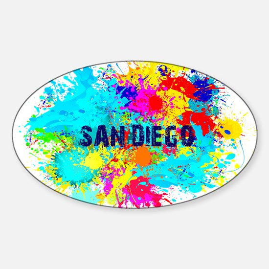 SAN DIEGO CALIFORNIA BURST Decal