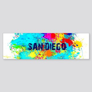 SAN DIEGO CALIFORNIA BURST Bumper Sticker