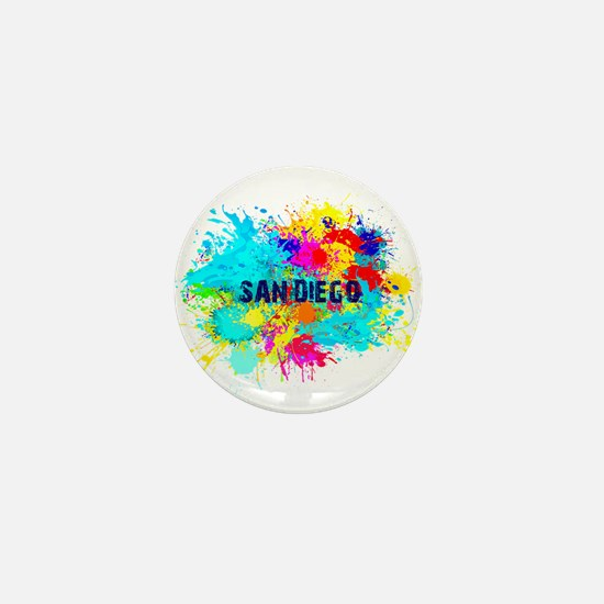 SAN DIEGO CALIFORNIA BURST Mini Button