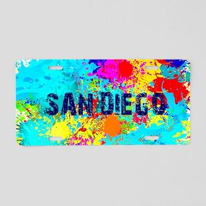 SAN DIEGO CALIFORNIA BURST Aluminum License Plate