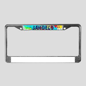 SAN DIEGO CALIFORNIA BURST License Plate Frame