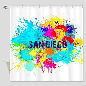 SAN DIEGO CALIFORNIA BURST Shower Curtain