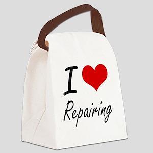 I Love Repairing Canvas Lunch Bag