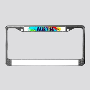 Austin Burst License Plate Frame