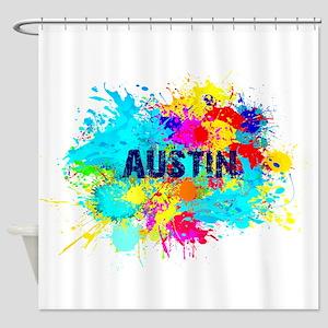 Austin Burst Shower Curtain