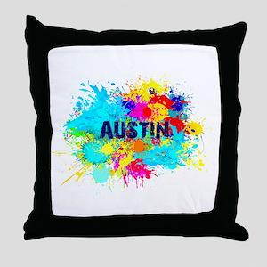 Austin Burst Throw Pillow