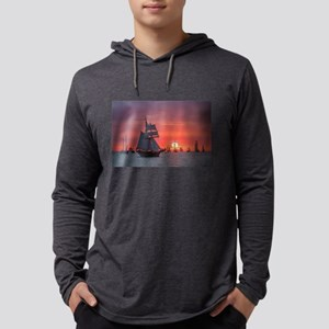 Windjammer in sunset light Long Sleeve T-Shirt