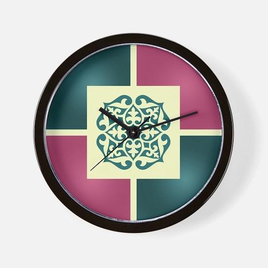 Cute Mexican tile Wall Clock